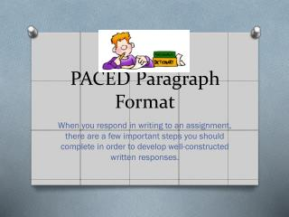 PACED Paragraph Format