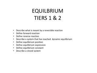 EQUILBRIUM TIERS 1 & 2