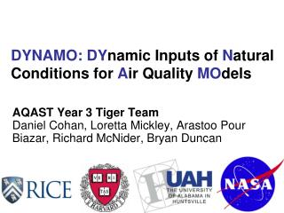 DYNAMO:  DY namic Inputs of  N atural Conditions for  A ir Quality MO dels