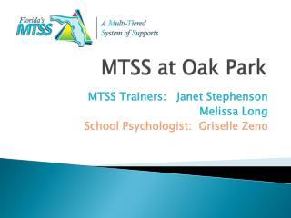 MTSS at Oak Park
