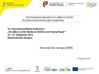 The Portuguese approach to e-safety in schools
