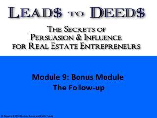 Module 9: Objectives