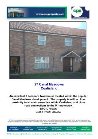 27 Canal Meadows  Coalisland