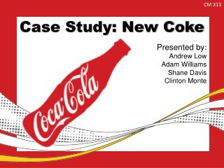 Case Study: New Coke