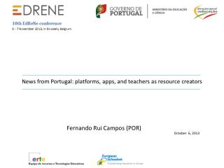 News from  Portugal:  platforms ,  apps , and  teachers  as  resource creators