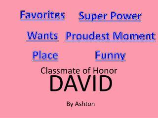 Classmate of Honor