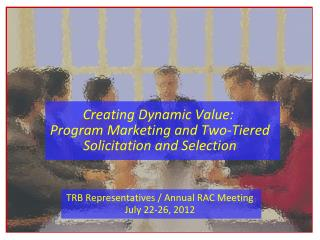 Creating Dynamic Value:   Program Marketing and Two-Tiered Solicitation and Selection