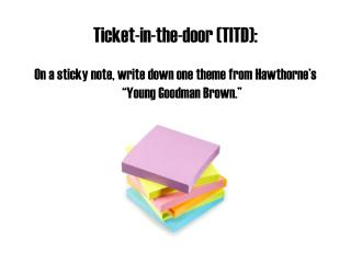 Ticket-in-the-door (TITD):