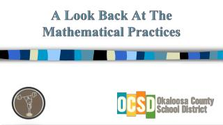 A Look Back At The Mathematical Practices