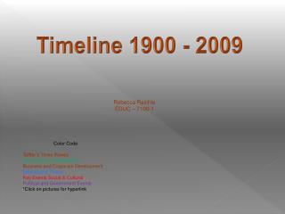 Timeline 1900 - 2009