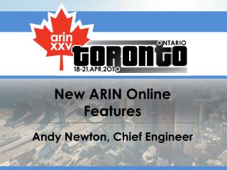 New ARIN Online Features