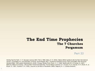 The End Time Prophecies The 7 Churches Pergamum