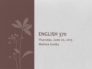 English 370