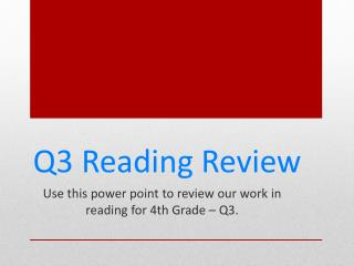 Q3 Reading Review