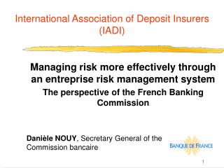 International Association of Deposit Insurers IADI