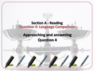 Section A - Reading Question 4: Language Comparison