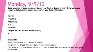 Monday, 9/9/13