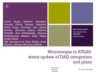 Micromegas in ATLAS: status update of  DAQ integration and plans