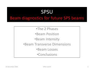 SPSU Beam diagnostics for future SPS beams