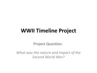 WWII Timeline Project