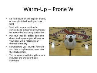 Warm-Up – Prone W