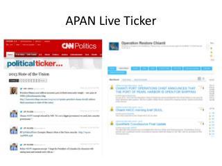 APAN Live Ticker