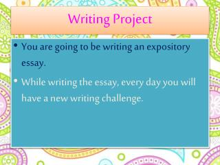 Writing Project