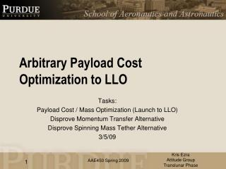 Arbitrary Payload Cost Optimization to LLO