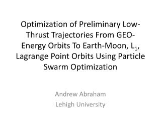 Andrew Abraham Lehigh University