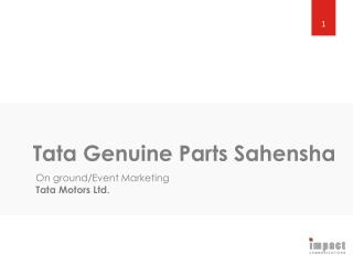 Tata Genuine Parts  Sahensha