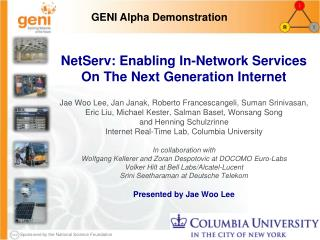 NetServ: Enabling In-Network Services On The Next Generation Internet