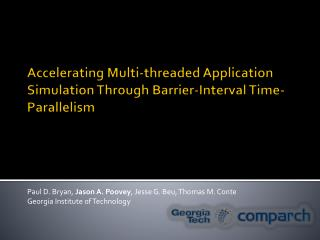 Accelerating Multi-threaded Application Simulation  Through  Barrier-Interval Time-Parallelism