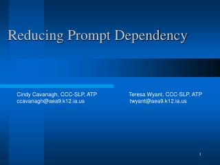 Reducing Prompt Dependency