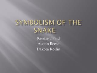Symbolism Of the snake