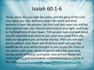 Isaiah 60:1-6