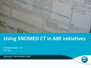 Using SNOMED CT in ABF initiatives