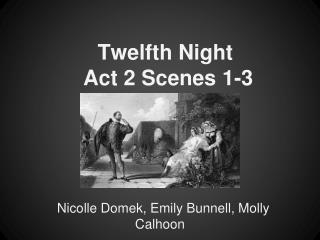 Twelfth Night  Act 2 Scenes 1-3