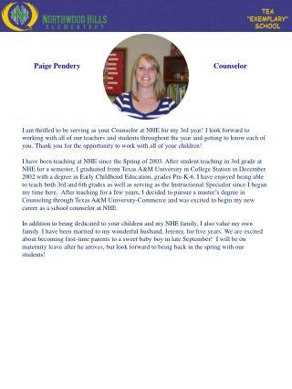 Paige Pendery