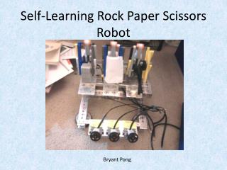 Self-Learning Rock Paper Scissors Robot