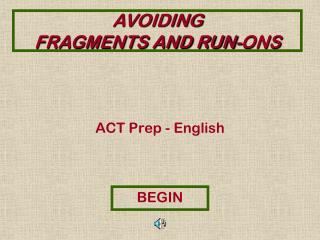 ACT Prep  - English