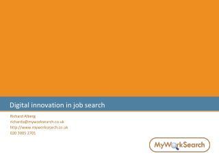 Digital innovation in job search
