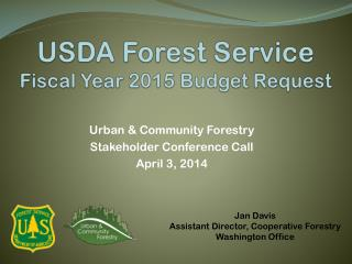 USDA Forest Service Fiscal Year 2015 Budget Request