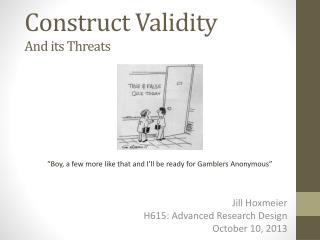 Construct Validity And its Threats