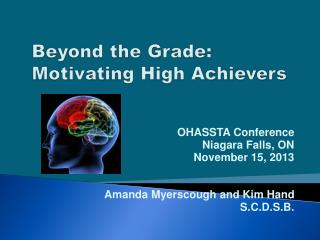 Beyond the Grade: Motivating High Achievers