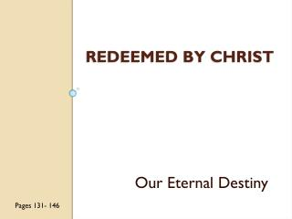 Redeemed by Christ