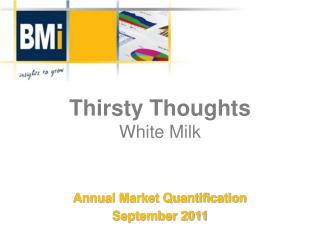 Thirsty Thoughts White Milk