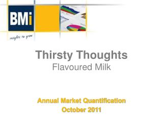 Thirsty Thoughts Flavoured  Milk