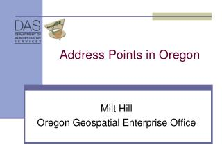 Address Points in Oregon