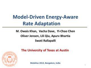 Model-Driven Energy-Aware Rate Adaptation