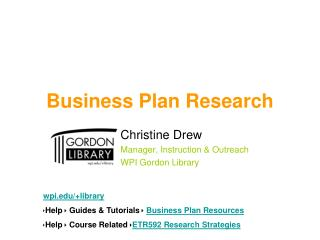 Business Plan Research